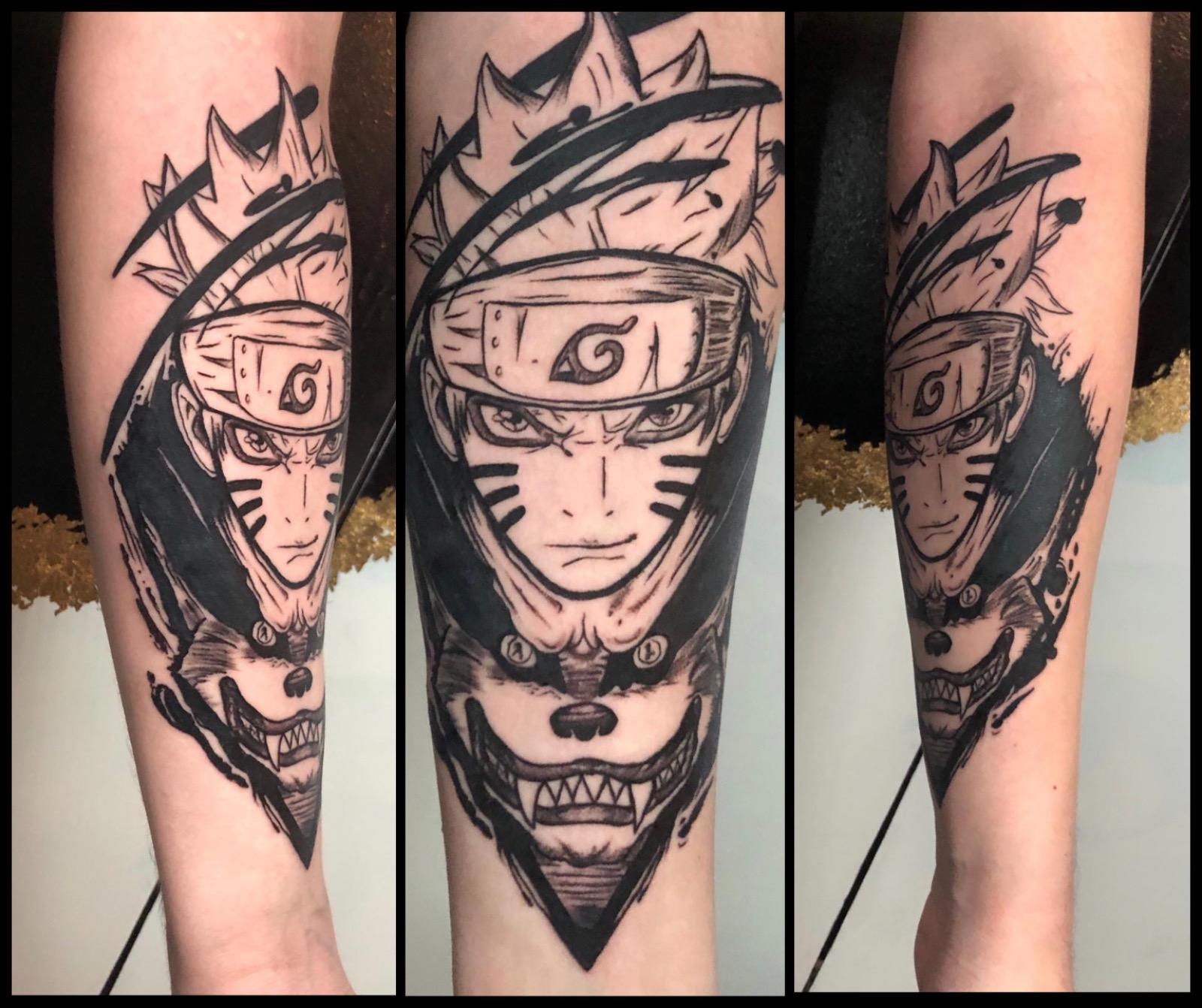 naruto anime tattoo